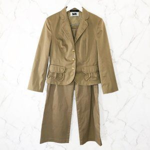 Marc Cain Tan Two Piece Pant Suit